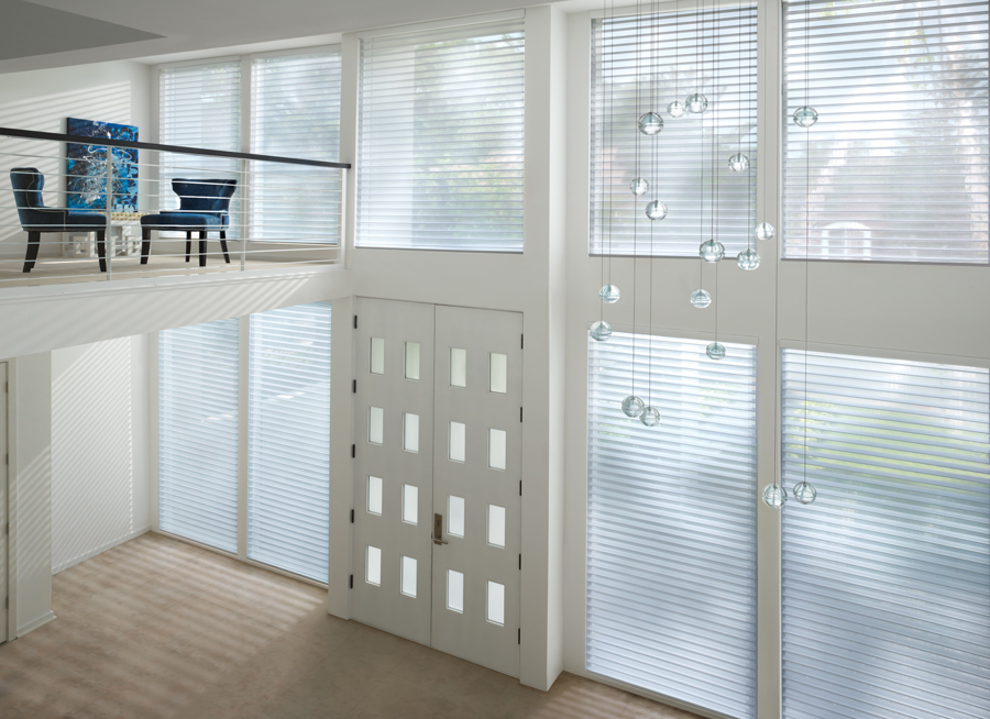 White entryway nantucket sheer shades Hunter Douglas San Antonio 78249