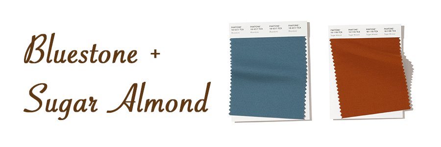 bluestone and sugar almond spring color pairings Hunter Douglas San Antonio 78249