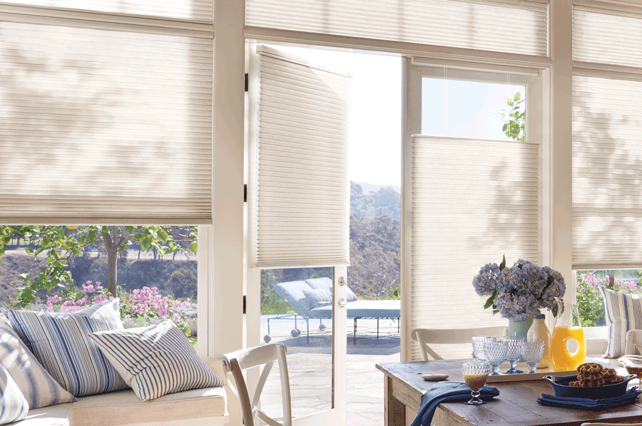 summer ready home with french door blinds