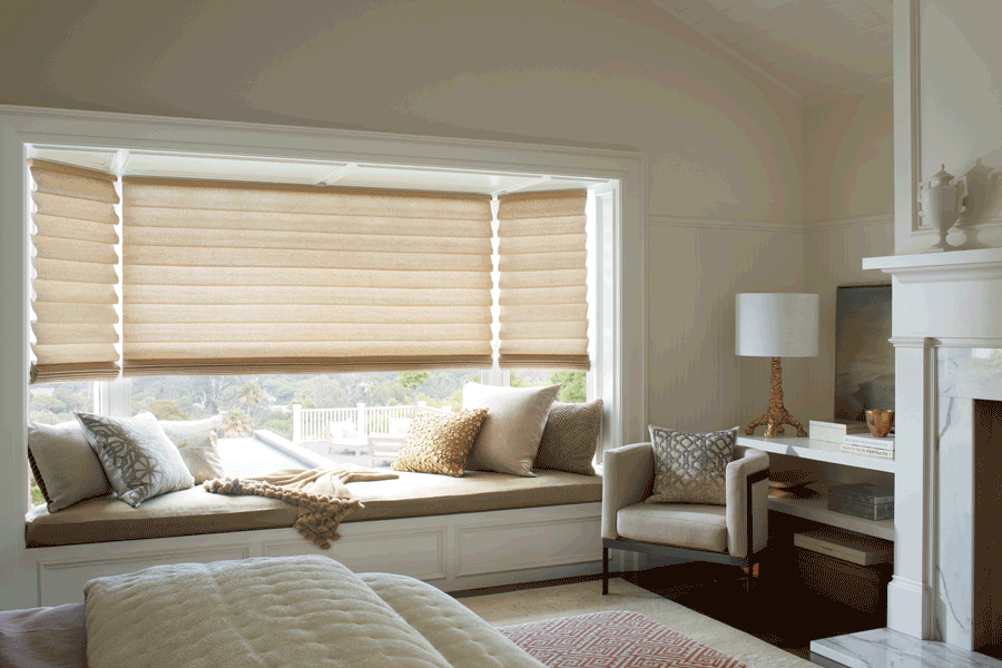 Hunter Douglas custom roman shades for your new home Central TX