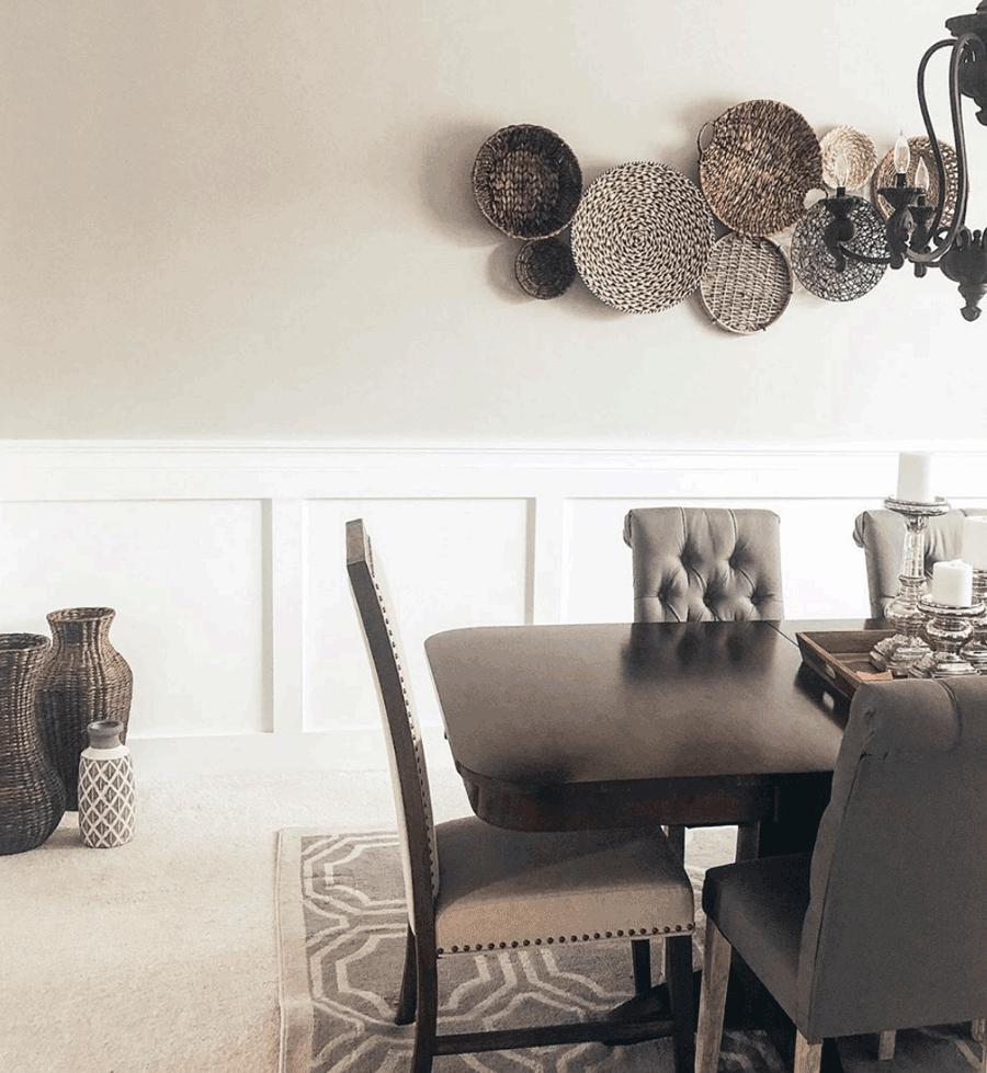 dining room basket wall