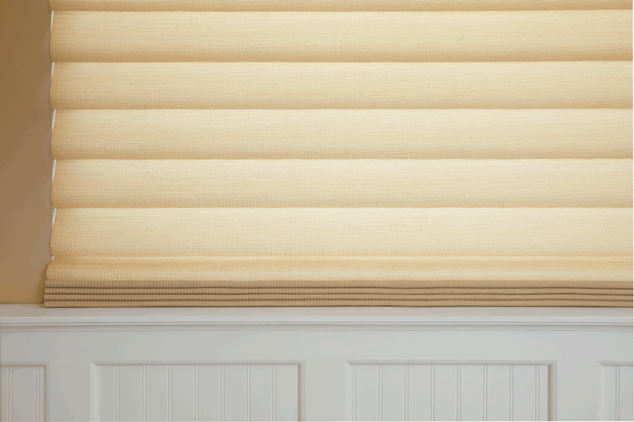 Hunter Douglas vignette modern roman shades for energy efficiency and light control