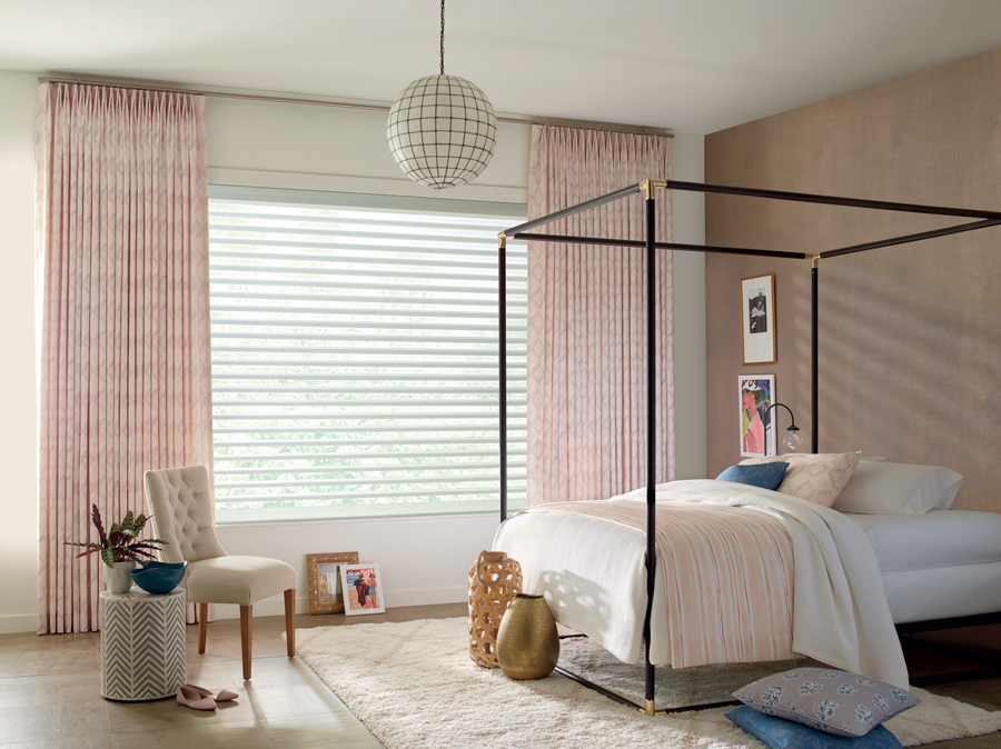 Drapery bring a pop of color and style to any room