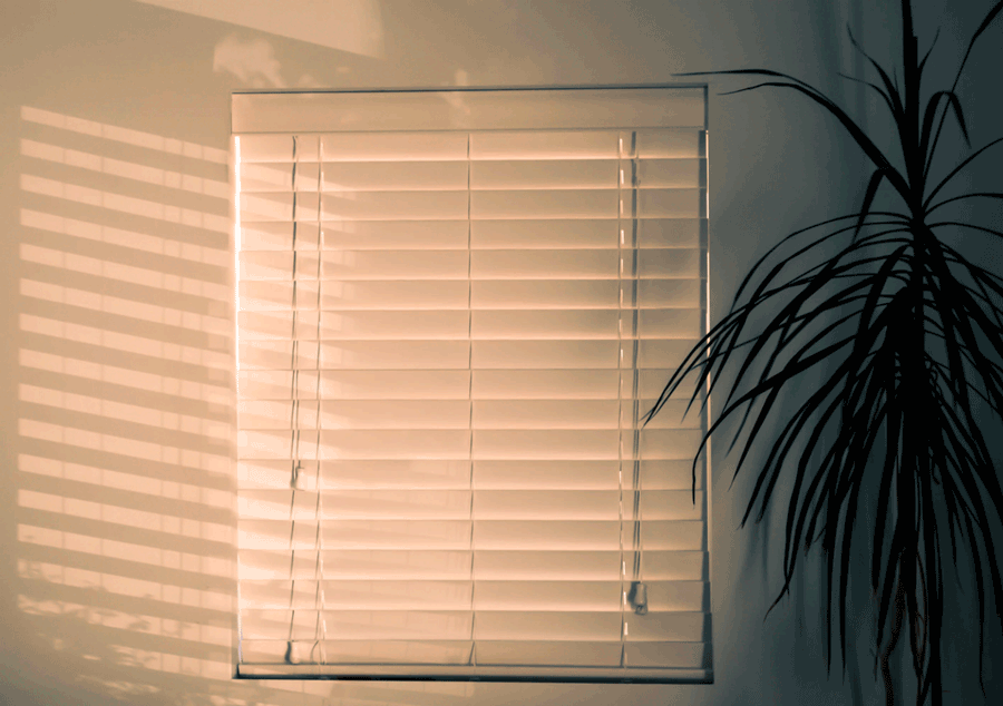 Blinds with unsafe blind cords in San Antonio home.