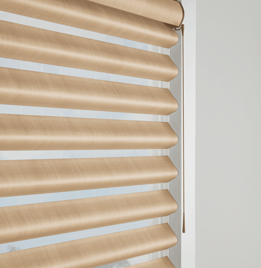 Soft touch blinds from Window Fashions of Texas are a great no blind cords choice.