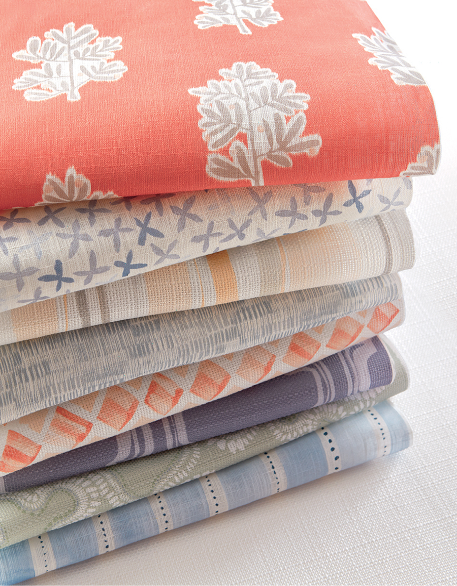 stack of fabrics by textile artist rebecca atwood