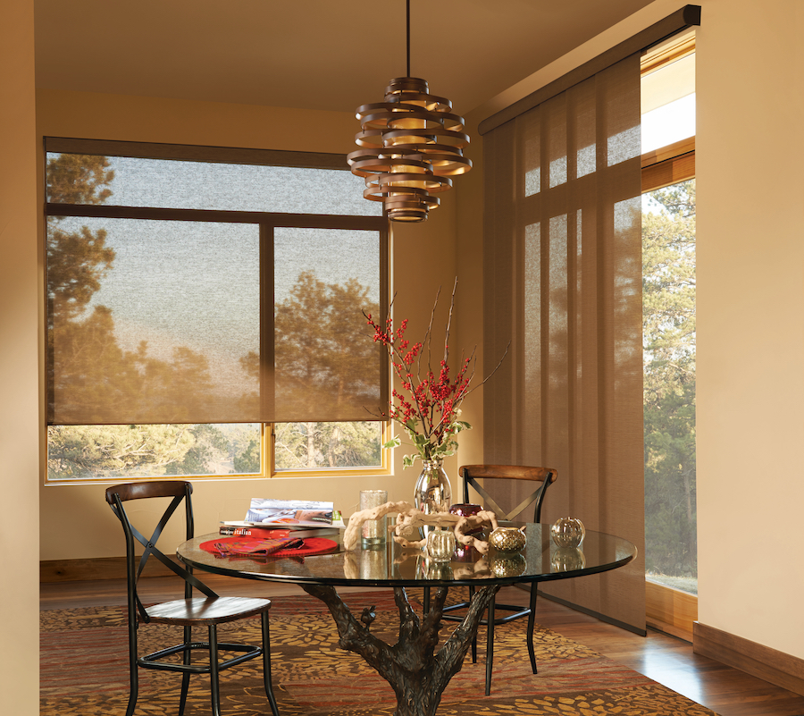Protect your view from glare and get window treatments that allow you to enjoy the changing season.