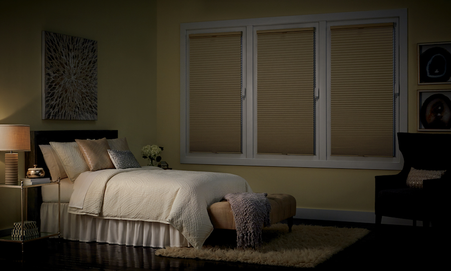 Get the sleep you deserve with room darkening shades.
