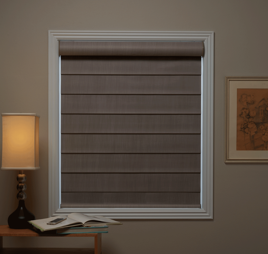 Room darkening to blackout shades are practical and stylish all year round.
