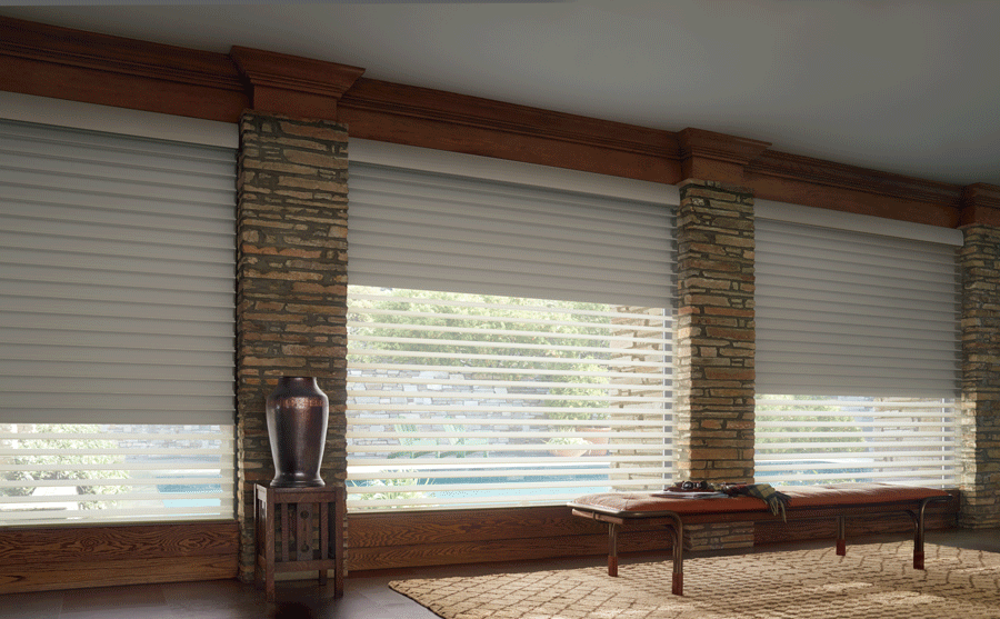 Consider room darkening to blackout shades like these for your San Antonio home.