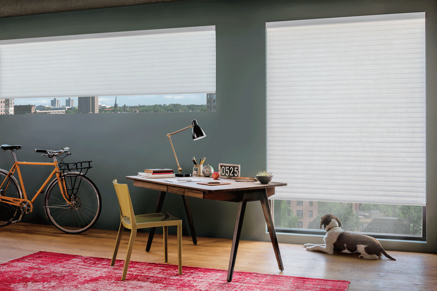 your home office sonnette roller shades window fashions of texas