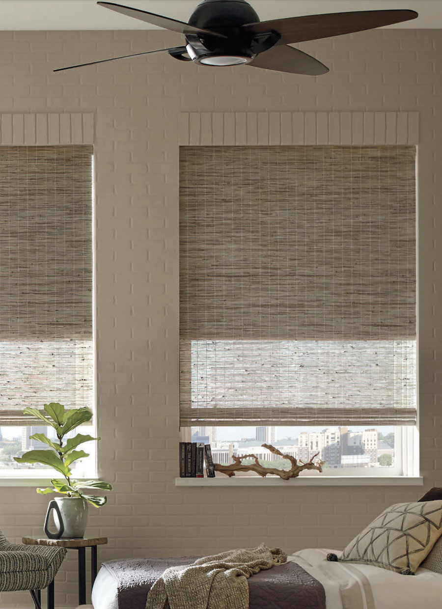 San Antonio, TX, Provenance Woven Woods Cellular dual shades.
