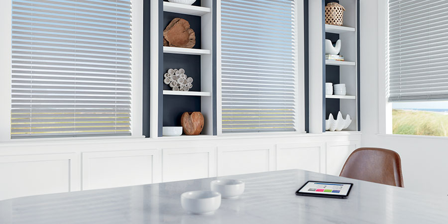 automated blinds in San Antonio TX kitchen