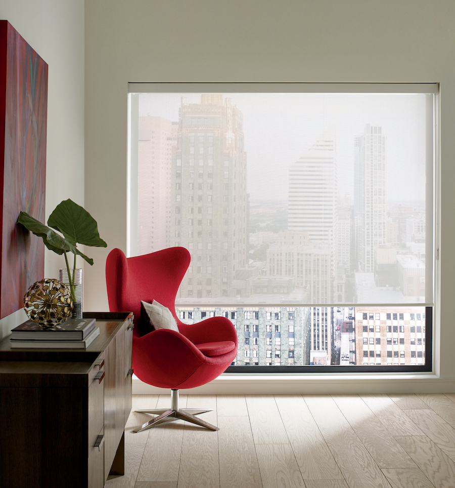 designer roller shades with 10% openness