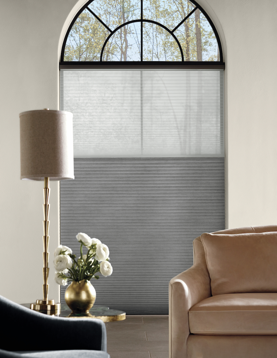 Cellular window shades by Hunter Douglas.