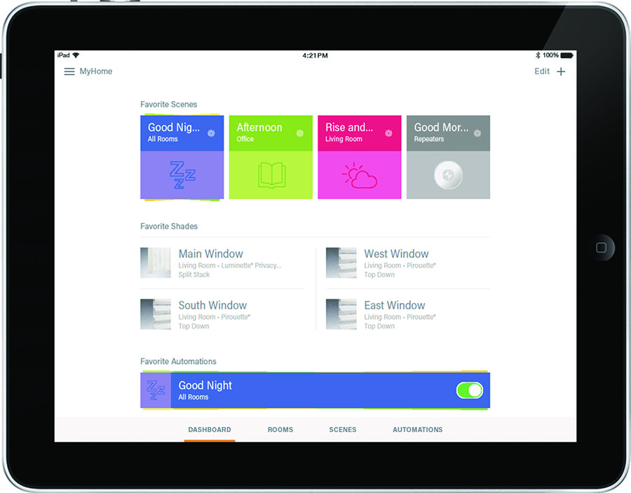 smart home control with app on ipad in san antonio home