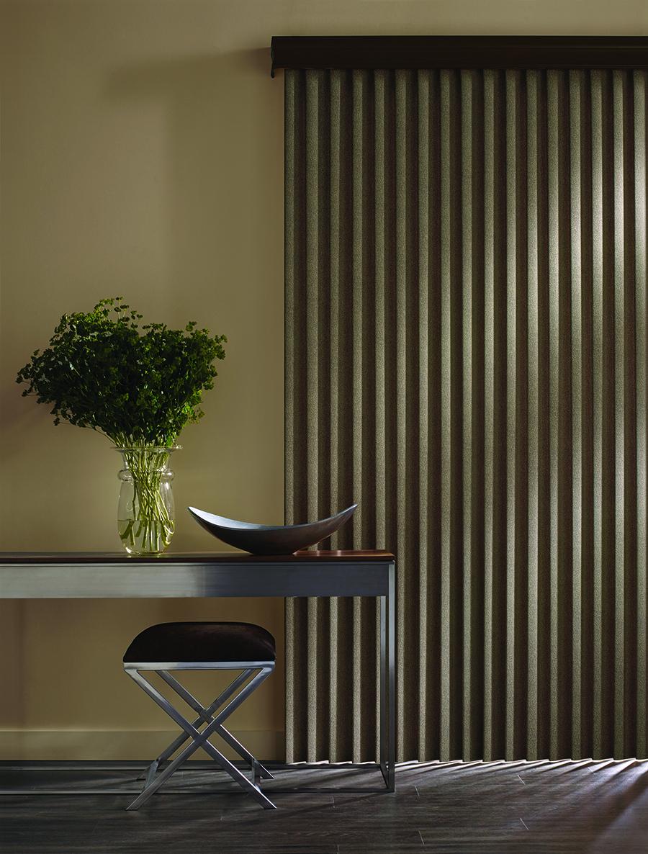vertical blinds to darken room