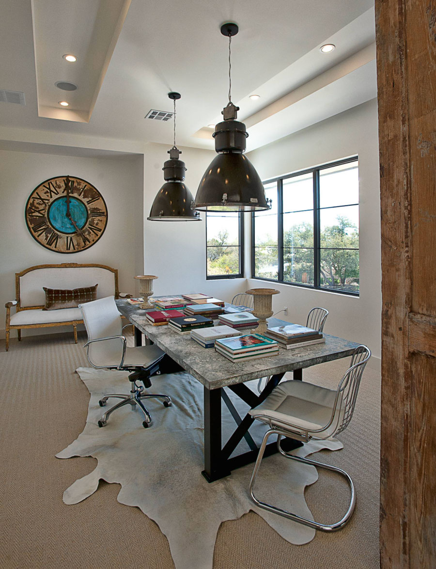 Dining room also used as home office