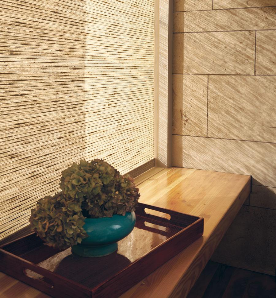 Alustra woven textures on window treatments