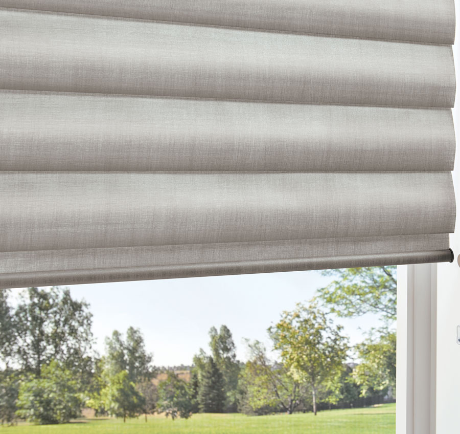 Window with Pirouette satin shades