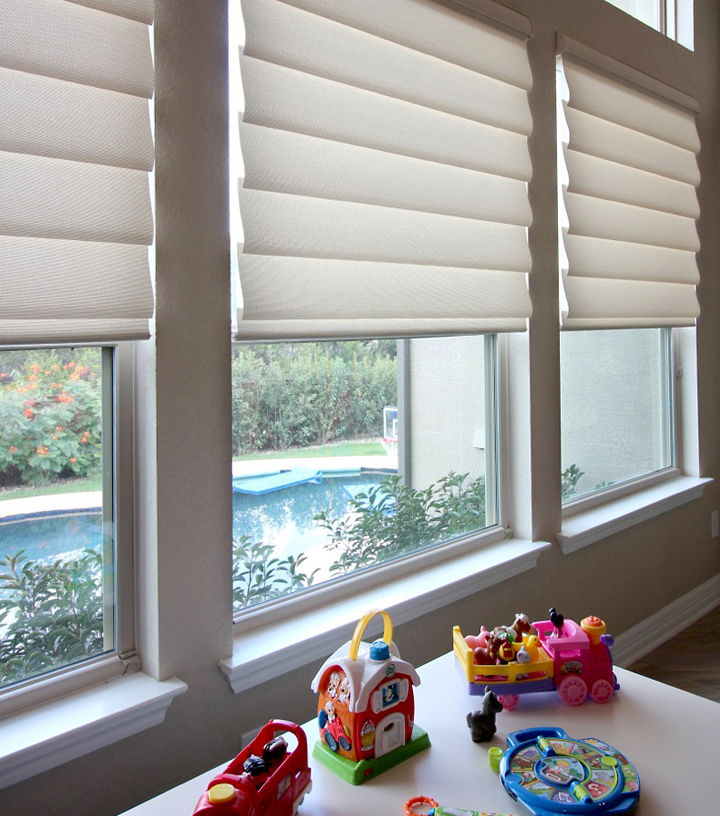 Hunter Douglas child safe blinds Central TX