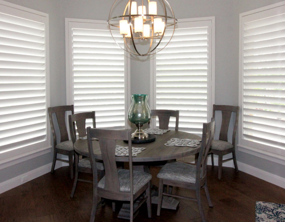 breakfast nook interior window shutters San Antonio