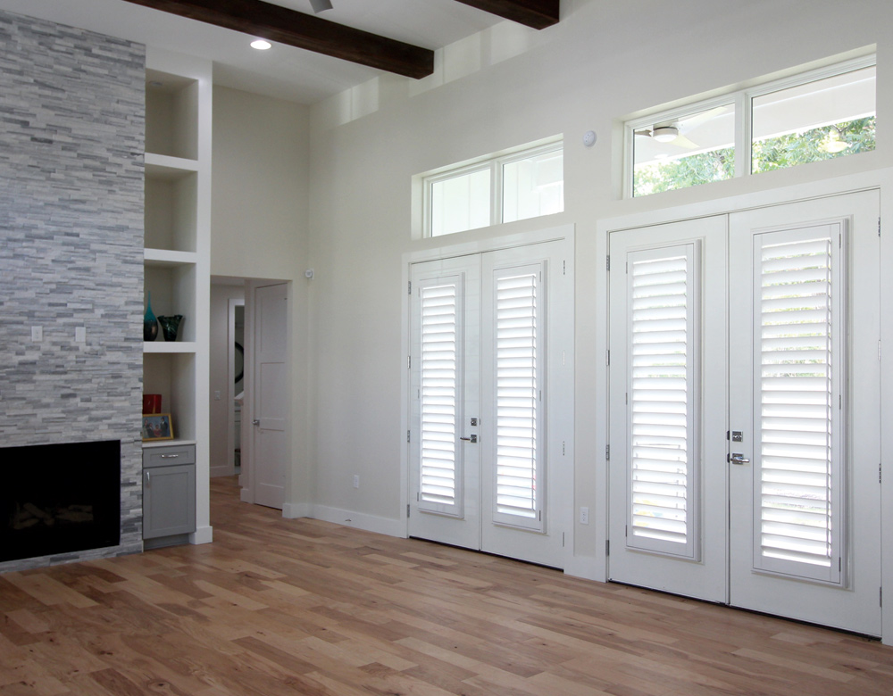 real wood shutters for french doors Central Texas