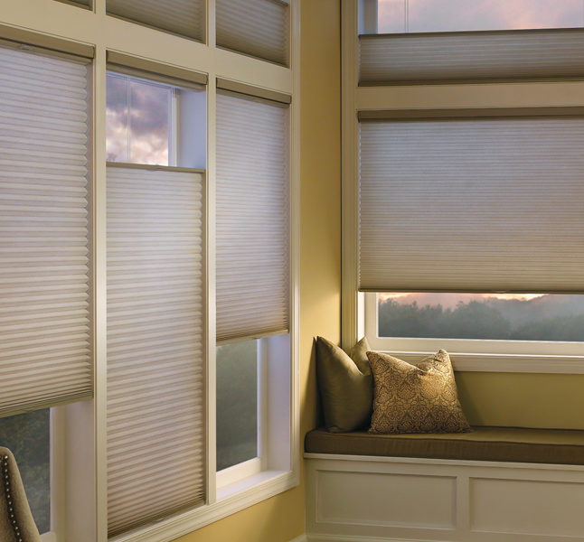Hunter Douglas top down bottom up blinds honeycomb shades remote control blinds San Antonio