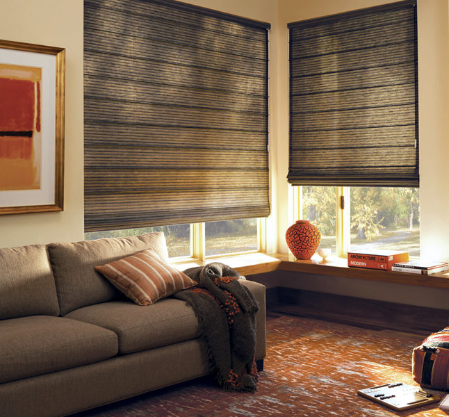 Hunter Douglas design studio custom roman shades motorized shades San Antonio