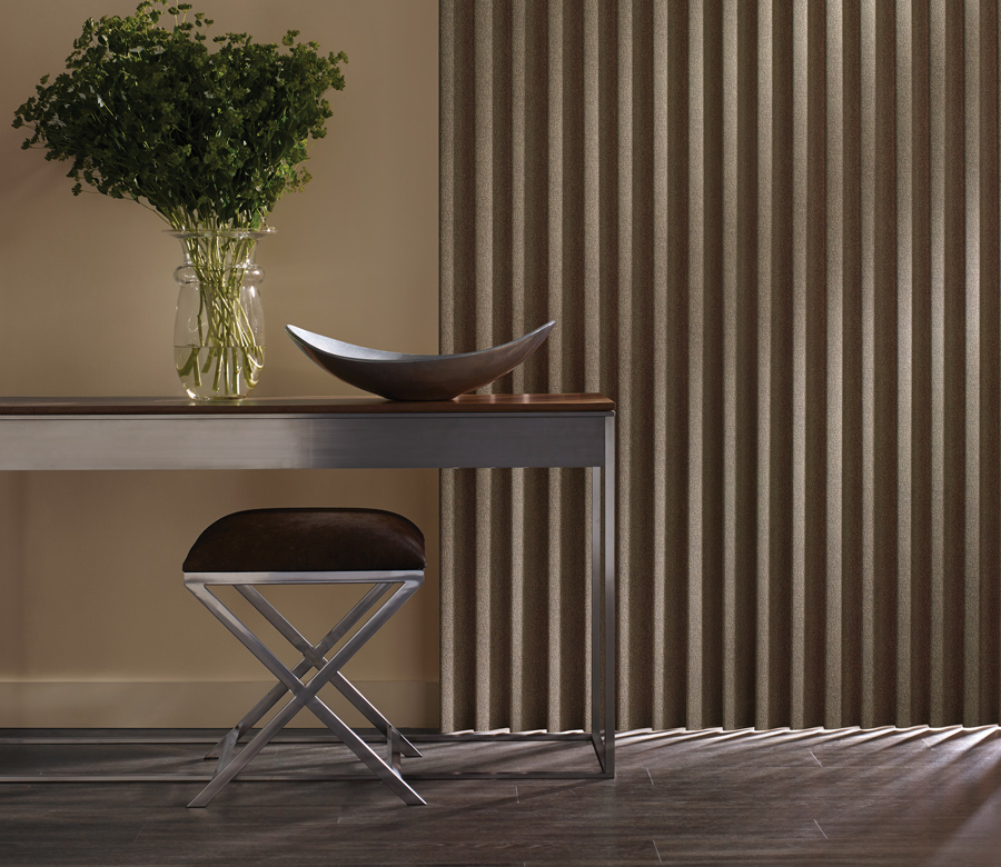 soft fabric vertical blinds Hunter Douglas cadence collection San Antonio
