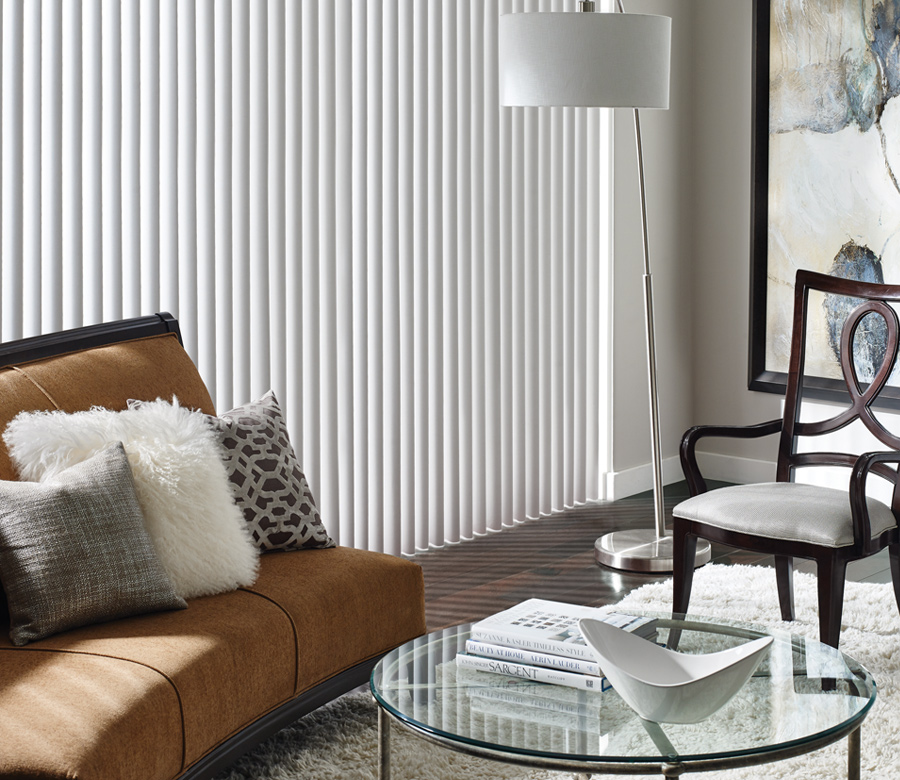 fabric vertical blinds for your living room Hunter Douglas San Antonio