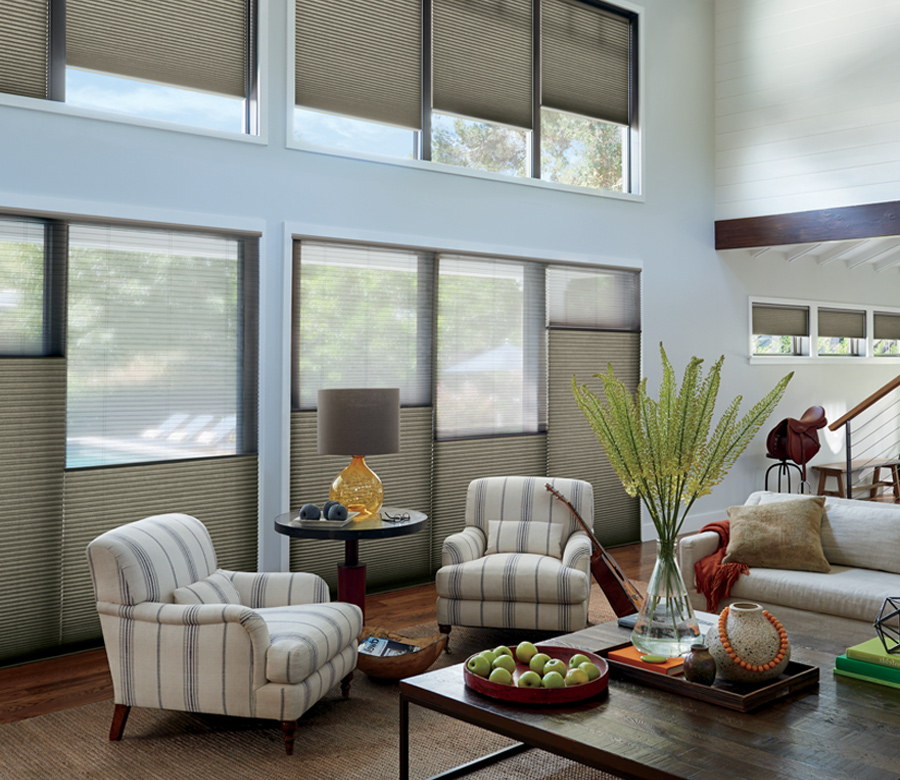 Hunter Douglas Duette honeycomb shades top down bottom up blinds San Antonio