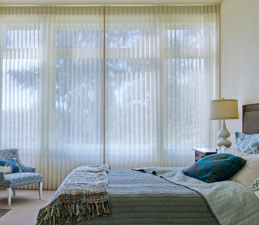 sheer to room darkening how to cover bedroom windows luminette privacy sheers Hunter Douglas San Antonio