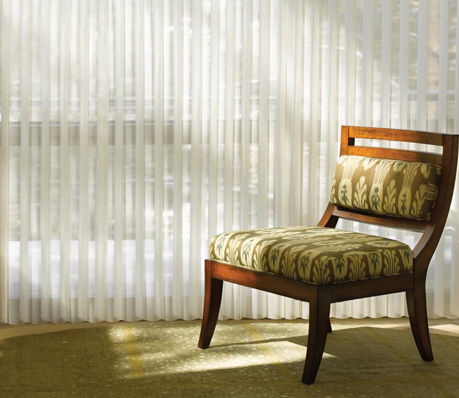 rotating sheer shades Luminette privacy sheers Hunter Douglas San Antonio
