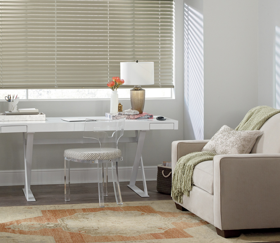 Hunter Douglas home office aluminum blinds San Antonio