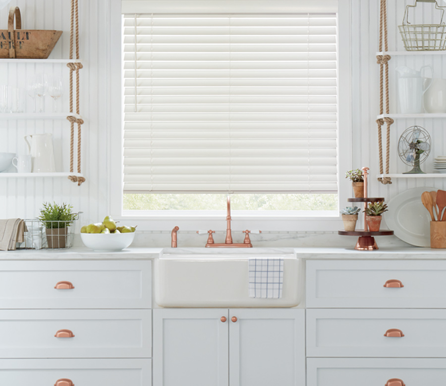 white wood blinds Hunter Douglas blinds San Antonio
