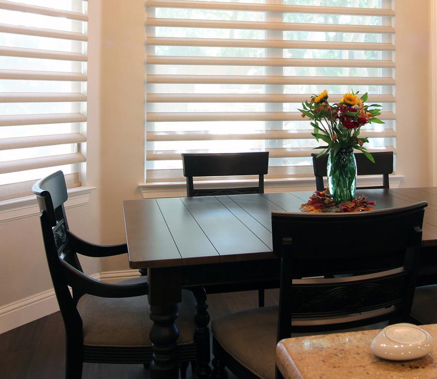 Hunter Douglas dining room shades pirouette shades San Antonio
