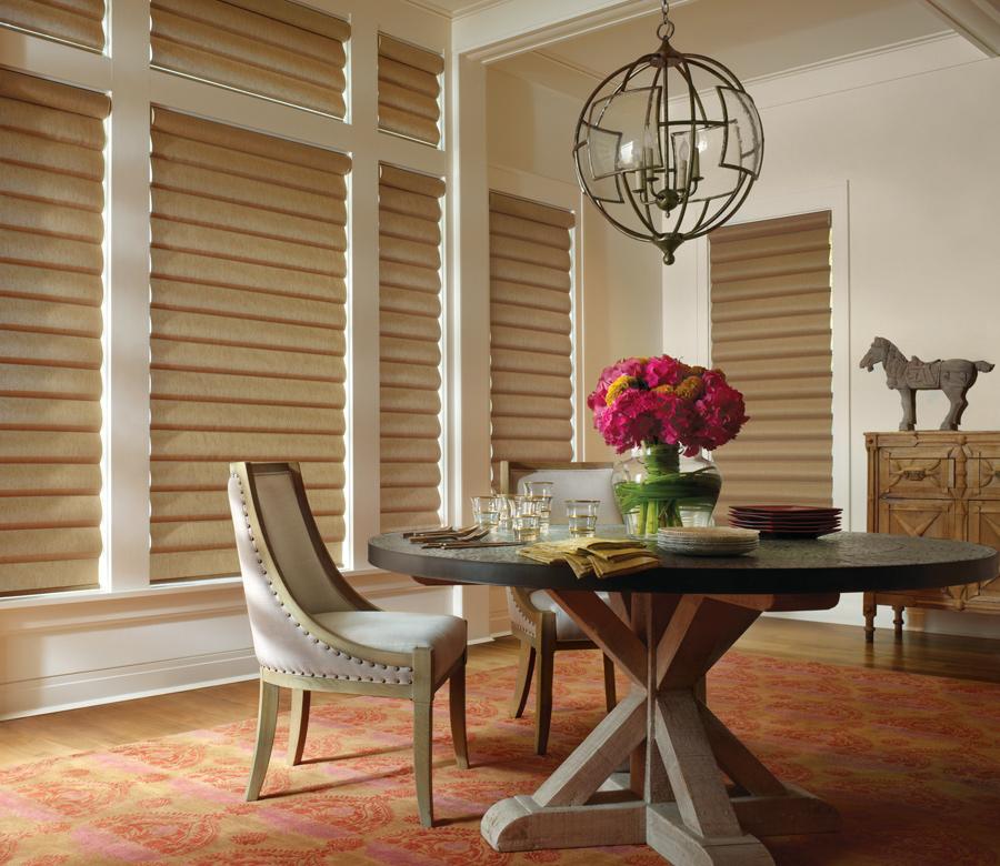 dining room pirouette shades Hunter Douglas San Antonio