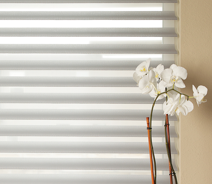 Hunter Douglas gray sheer silhouette shades San Antonio