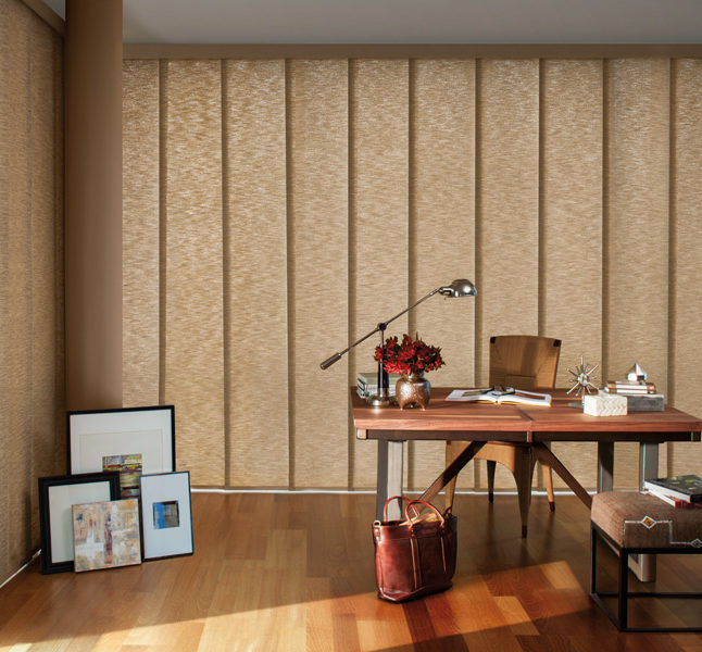 Hunter Douglas skyline gliding window panels smart shades San Antonio