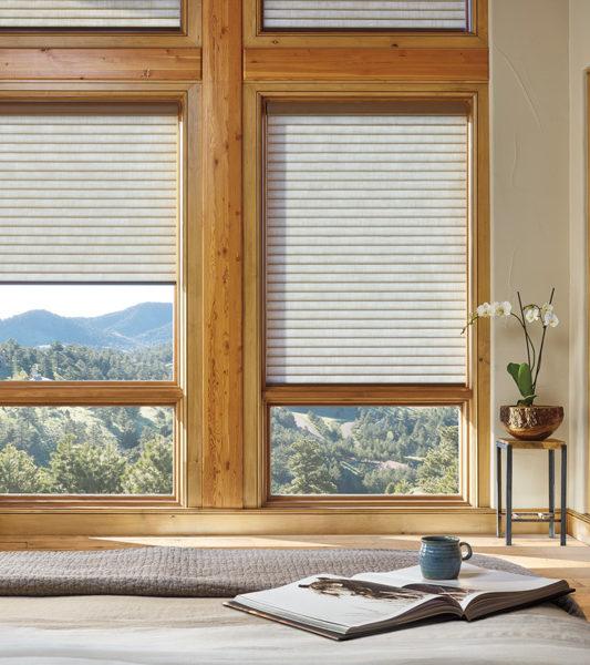 bedroom energy savings with thermal shades Hunter Douglas motorized shades San Antonio
