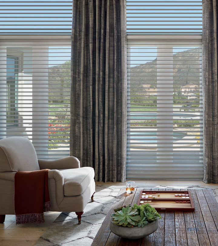 Hunter Douglas silhouette shades window treatments for large windows Central TX