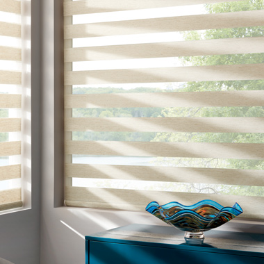 Hunter Douglas designer banded roller window shades San Antonio