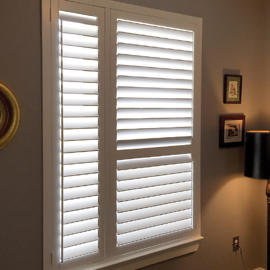 Specialty shape split tilt shutters San Antonio