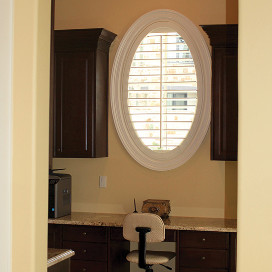 Specialty shape oval shutters San Antonio