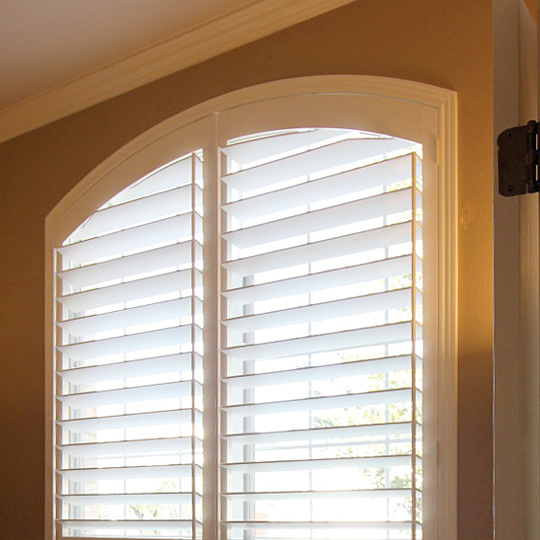 specialty shape rounded window shutters San Antonio