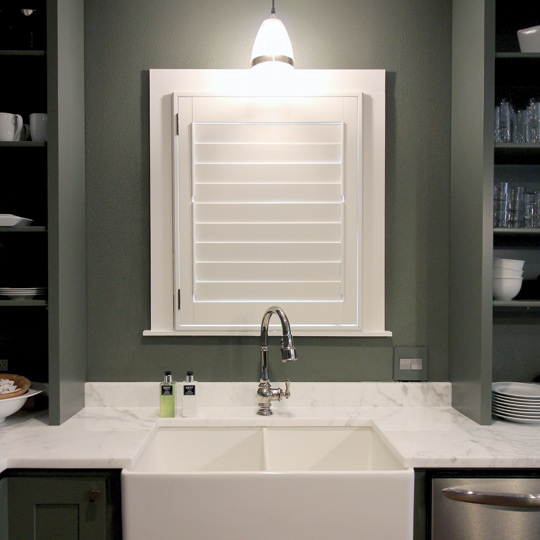 white wood interior window shutters Central Texas