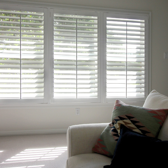 interior window shutters for large windows Central Texas