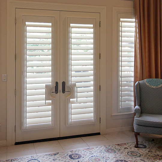 door handle cutouts for interior window shutters for french doors San Antonio