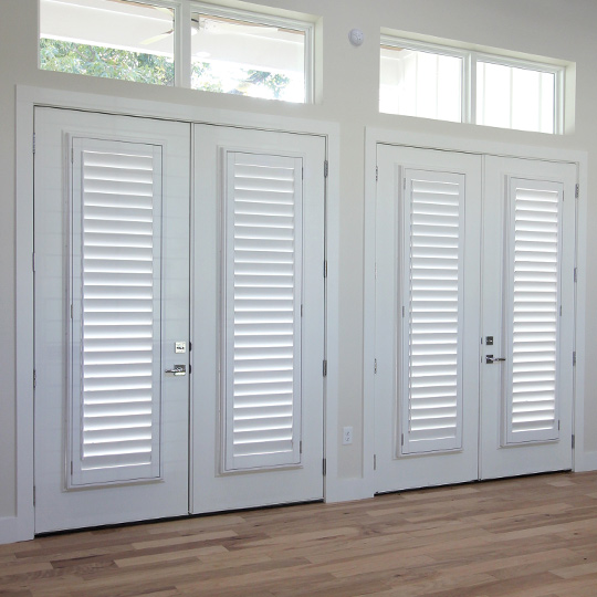 plantation shutters for french doors San Antonio